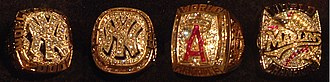 World Series ring - World Series rings given out by the New York Yankees, Anaheim Angels, and Florida Marlins