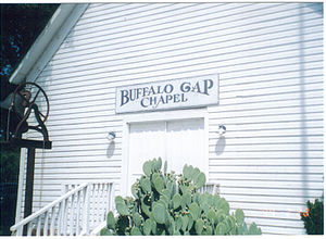 Buffalo Gap Historic Village - Rustic chapel at Buffalo Gap