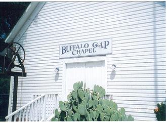 Buffalo Gap Historic Village - Rustic chapel at Buffalo Gap