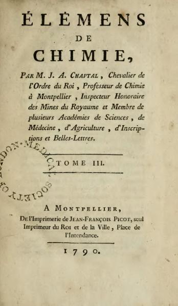 File:Chaptal - Élémens de chimie, 1790, Tome 3.djvu