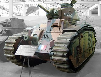 Char B1 - The Char B1 bis Rhône at the Musée des Blindés at Saumur