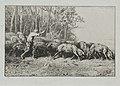 Charles-Émile Jacque - Troupeau de pores sortant d'une bois - 1921.986 - Cleveland Museum of Art.jpg
