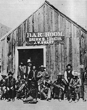 History of alcoholic drinks - J.W. Swarts Saloon in Charleston, Arizona in 1885