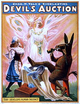 Chas. H. Yale's everlasting Devil's Auction, performing arts poster, 1904
