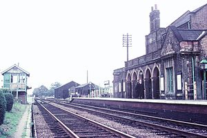 Chatteris - Chatteris Railway Station before closure in 1967. The station buildings no longer exist.