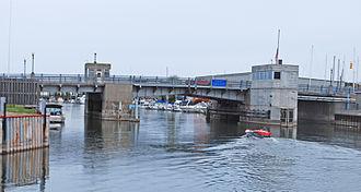 National Register of Historic Places listings in Cheboygan County, Michigan - Image: Cheboygan Bascule Bridge