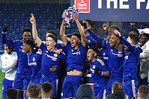 Chelsea F.C. Under-23s and Academy -  Chelsea players celebrating winning the 2015–16 FA Youth Cup.