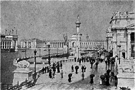 COLUMBIAN EXPOSITION CHICAGO WOODED ISLAND 1892 ARCHITECTURE BY CHARLES GRAHAM