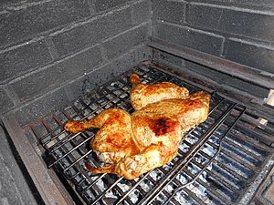 Barbecue chicken - Barbecued chicken Piri piri