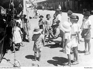 Kota Kinabalu - Children in Jesselton filmed by Australian government representative a year after the war in 1946.
