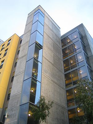University of California, Berkeley student housing - A view of the newly built Christian Hall