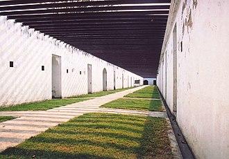 Paknam incident - Image: Chulachomklao fort walkway