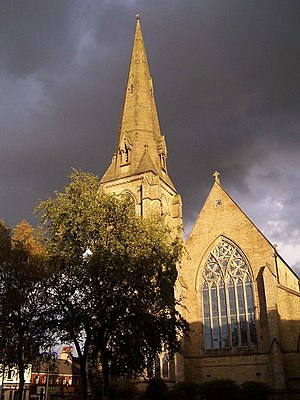 Heywood, Greater Manchester - St Luke's Church is noted in the area for its beautiful proportions and ornate carvings.