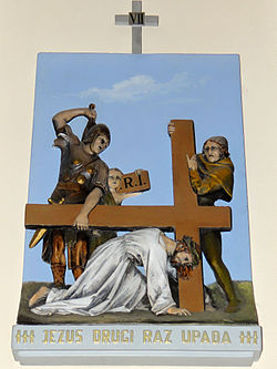 Church of the Assumption of Mary in Kock - Stations of the Cross - 07.jpg