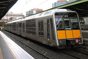 Sydney Trains T set - G6 in original condition at Central in August 2006