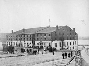 Libby Prison - A photo of Libby Prison (1865)