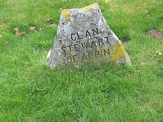 Clan Stewart of Appin - Clan Stewart of Appin grave marker at the site of the Battle of Culloden