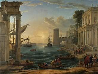 The Embarkation of the Queen of Sheba - Image: Claude Lorrain 008
