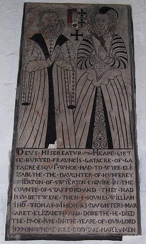 All Saints Church, Claverley - Image: Claverley All Saints Francis Gatacre Elizabeth Swynnerton