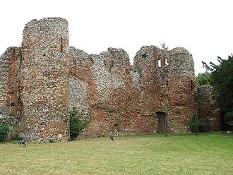 Claxton, Norfolk - C14 ruins of Claxton Castle