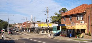 Clemton Park, New South Wales - William Street and Bexley Road intersection