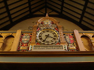 Trinity College, Toronto - The clock over the main entrance to Strachan Hall