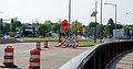 Closed I-695 off-ramp - northbound Sousa Bridge - Washington DC.jpg