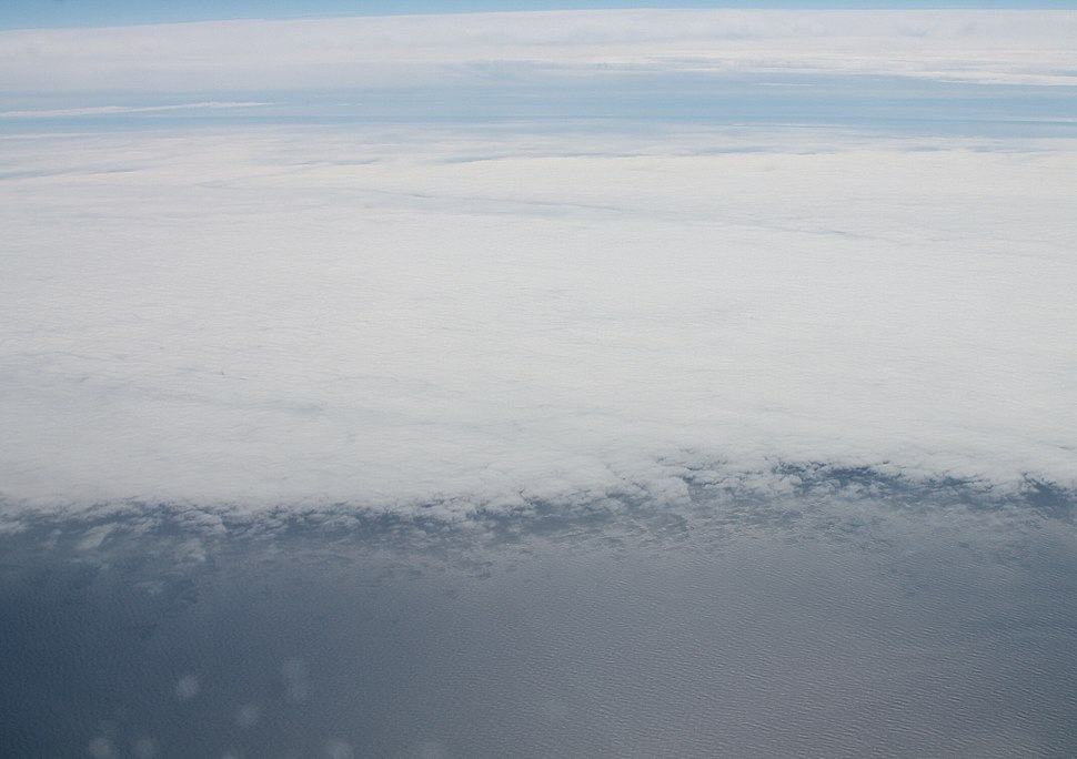 Cloud cover over the North Atlantic Ocean 3