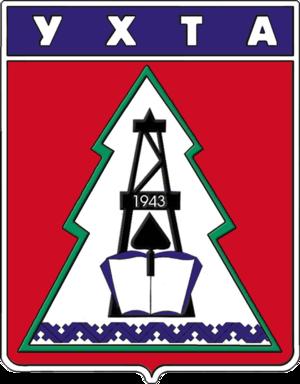 Ukhta - Image: Coat of Arms of Ukhta (Komia) (1979)