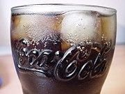 Verre de Coca-Cola, siglé «Coca-Cola».