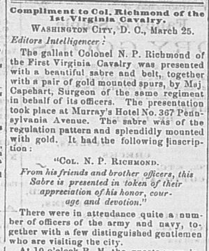 old newspaper article beginning of newspaper article in 1863