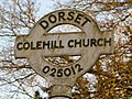 Colehill, detail of Colehill Church finger-post - geograph.org.uk - 1741421.jpg