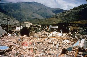 1990 Manjil–Rudbar earthquake - Collapsed unreinforced masonry buildings