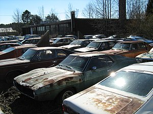 Collier Motors - Vehicle inventory in the front lot