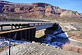 Colorado State Highway 90 at Dolores River bridge, January 2019.jpg