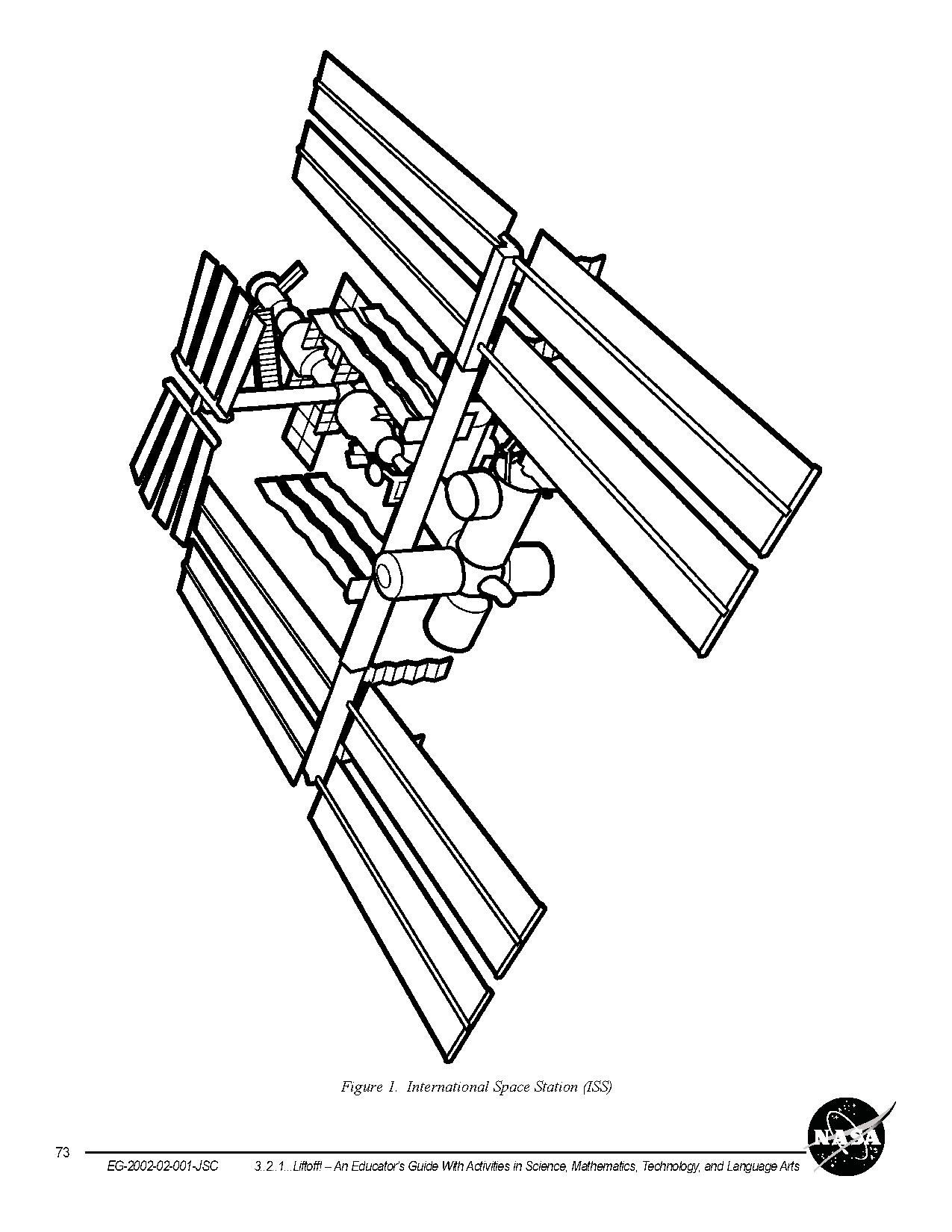 coloring pages international space station - photo#7