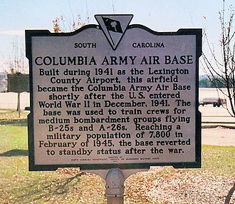 Columbia Army Air Base - Image: Columbia aab photo 3