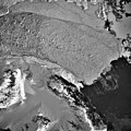 Columbia Glacier, Calving Terminus, Terentiev Lake, January 10, 1993 (GLACIERS 1582).jpg