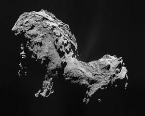 2014 in science - Image: Comet 67P on 19 September 2014 Nav Cam mosaic
