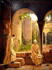 Comminges et Adélaïde au couvent de la Trappe