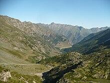 La conca del Pra vista dal sentiero che sale al rifugio Granero.