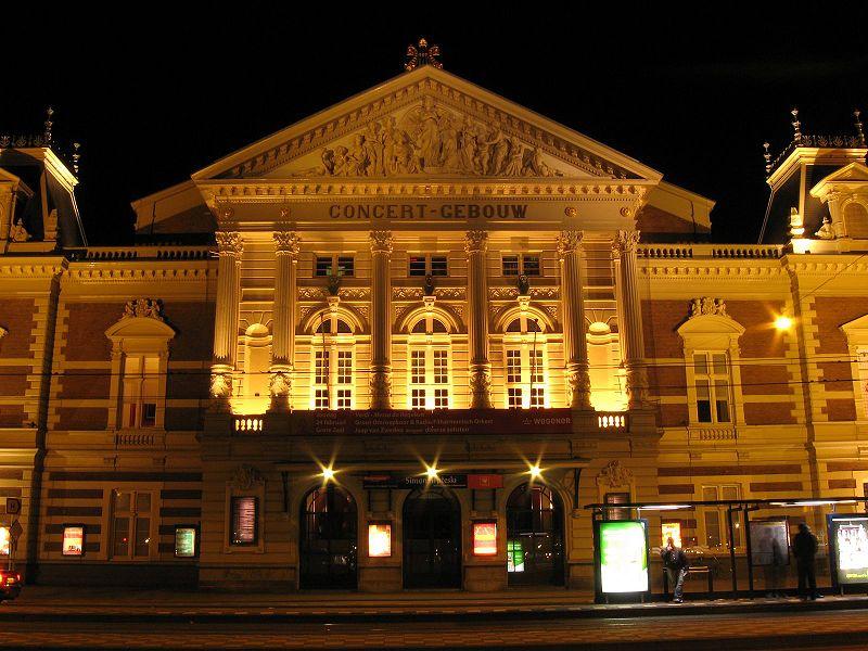 File:Concertgebouw Amsterdam Night View.jpg