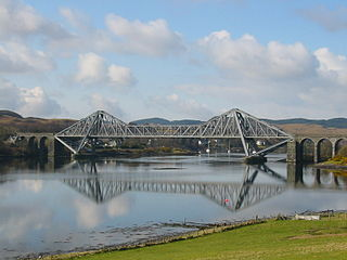 Cantilever bridge that spans Loch Etive in Scotland