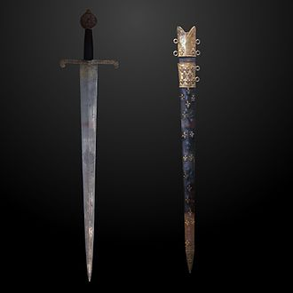 Grand Constable of France - Constable of France sword, on display at the Musée de l'Armée at Les Invalides, Paris.