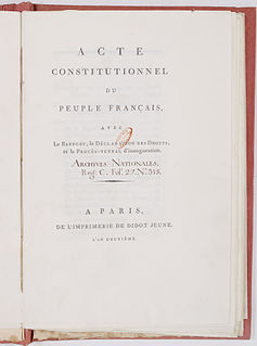 French Constitution of 1793 Document of the French Revolution