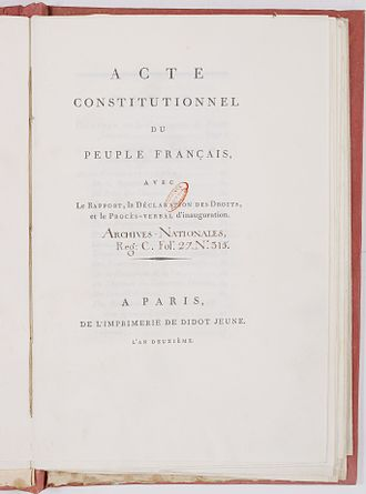 French Constitution of 1793 - French Constitution of 1793.