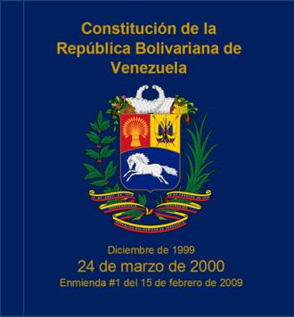 Constitution of Venezuela - Constitution of Venezuela (1999)