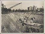 Construction of train tunnel, Hyde Park, 1923 (8282713123).jpg