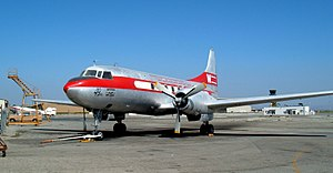 Western Airlines - A restoration of a Convair 240 sports a Western Airlines paint scheme.