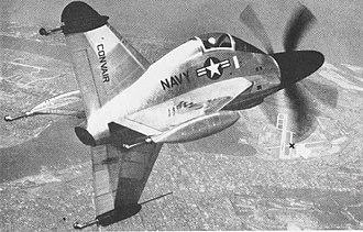 Convair XFY Pogo - Image: Convair XFY 1 in flight